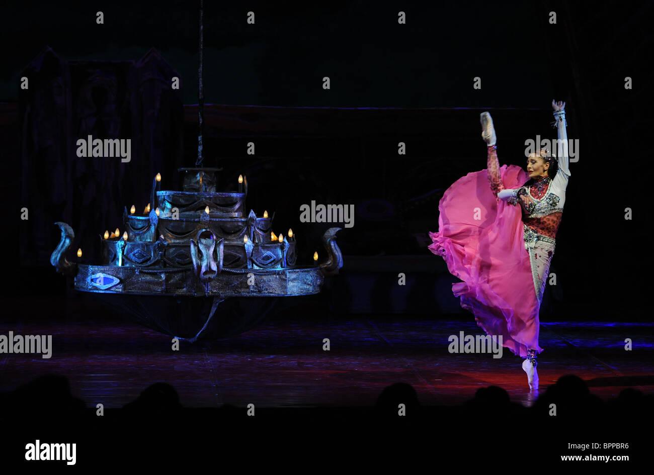Tamar ballet remake performed at Mikhailovsky Theater Stock Photo