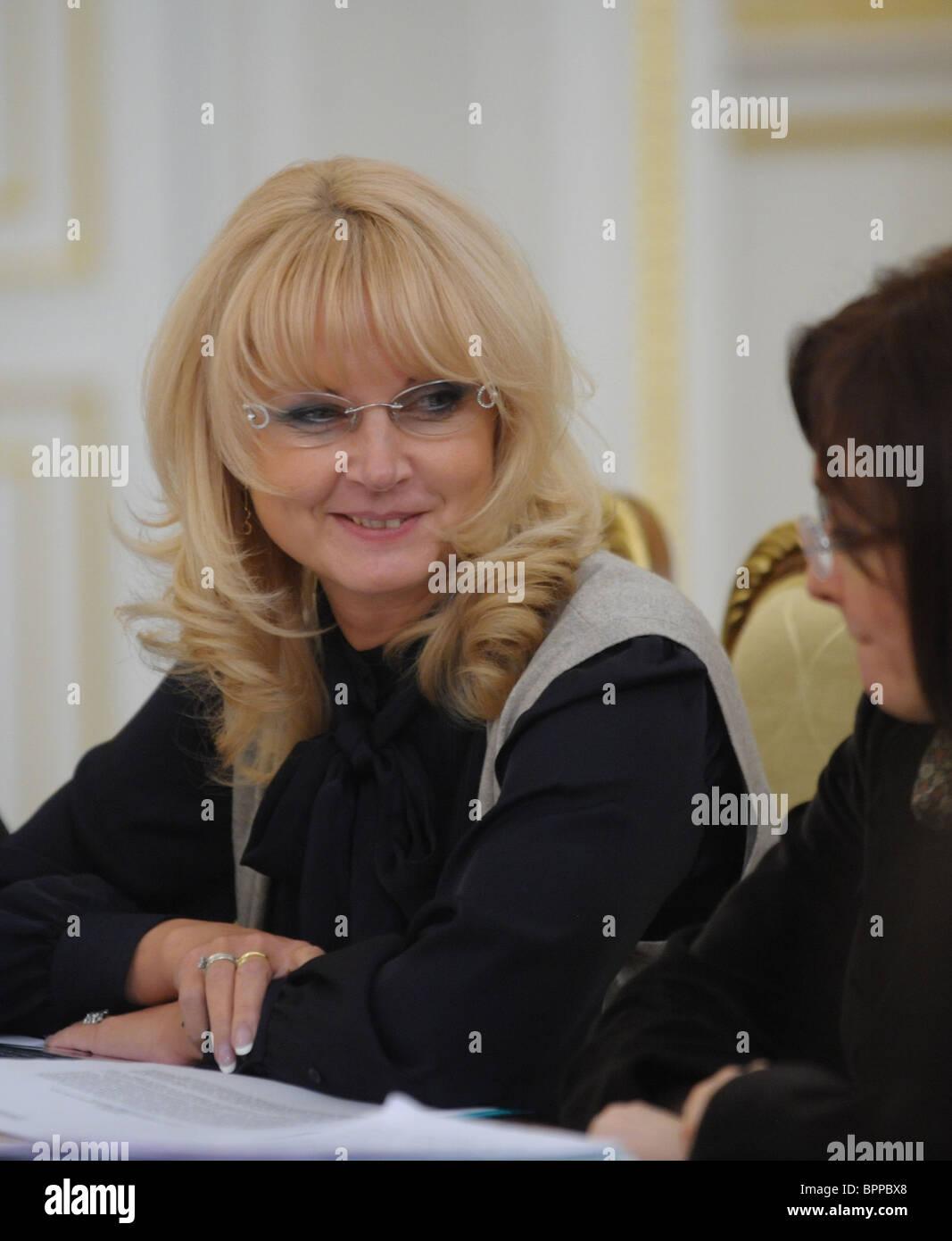 Russian government presidium in session - Stock Image