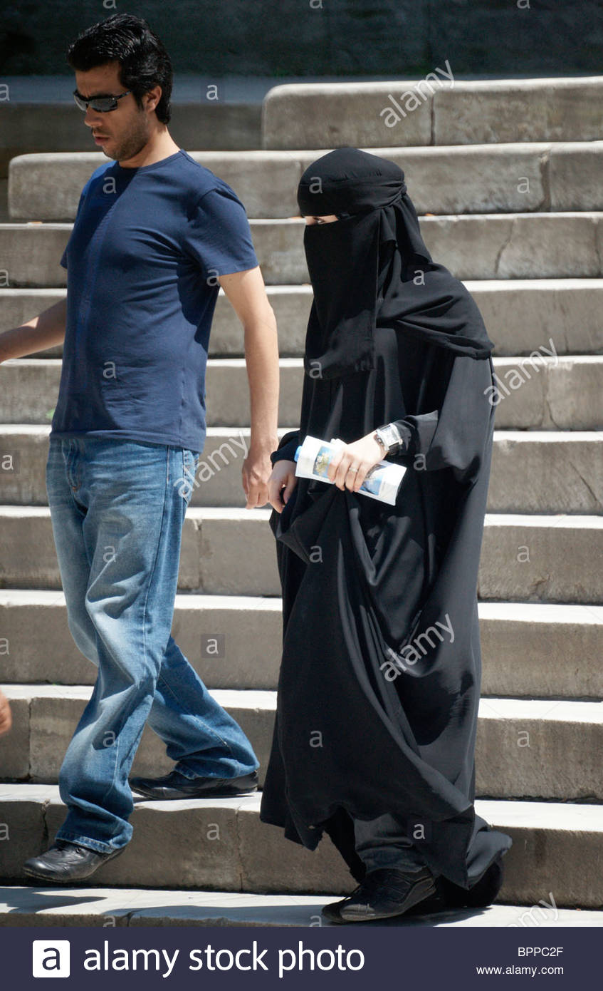 Image result for women in burqa men in jeans