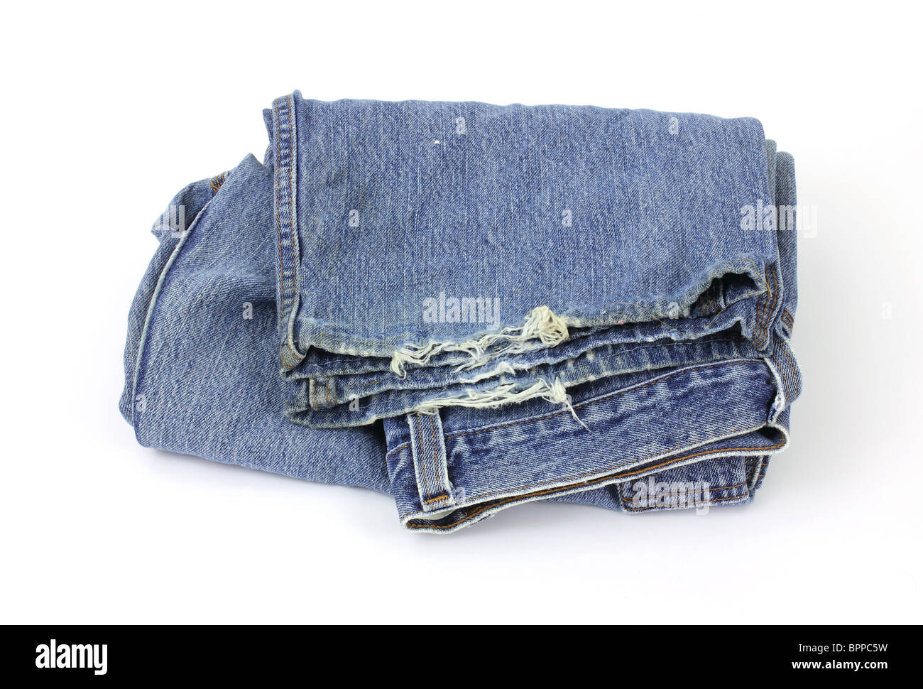 Old bluejeans Stock Photo
