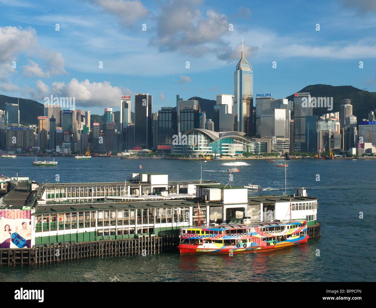 The Star Ferry terminal at 'Tsim Sha Tsui' Kowloon Hong Kong - Stock Image