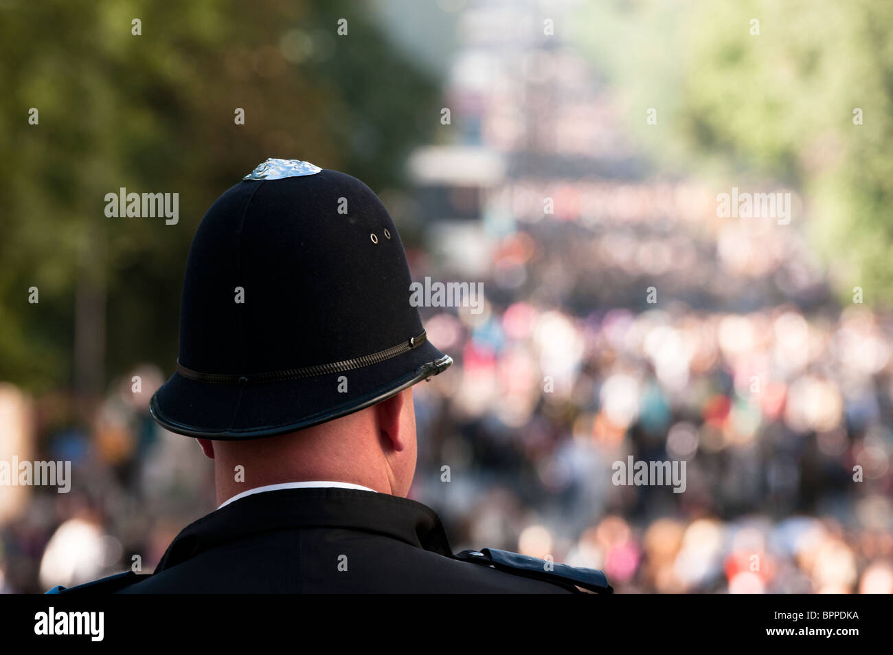 Policeman at the Notting Hill Carnival - Stock Image