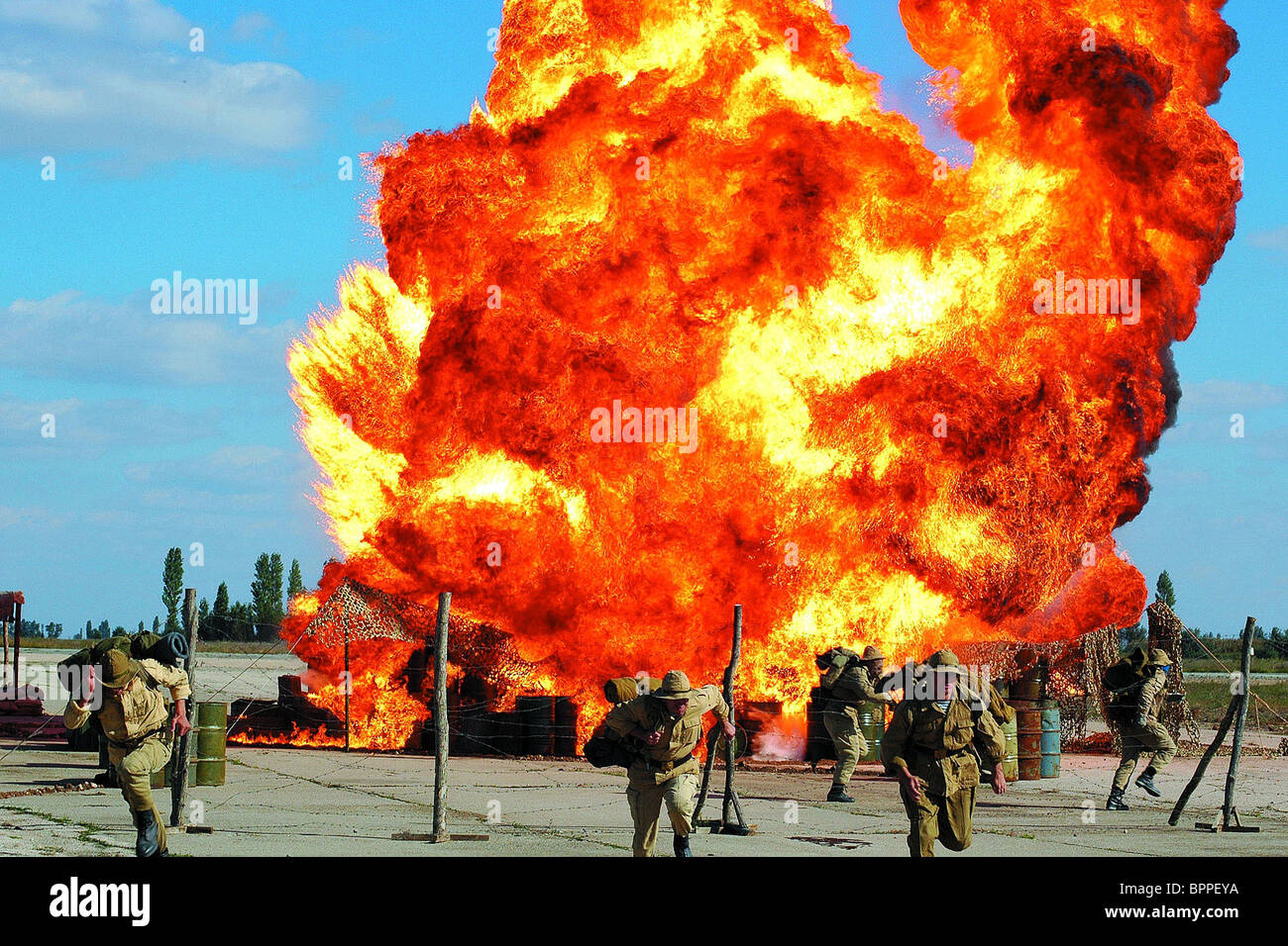 EXPLOSION SCENE THE 9TH COMPANY; 9-YA ROTA (2005) - Stock Image