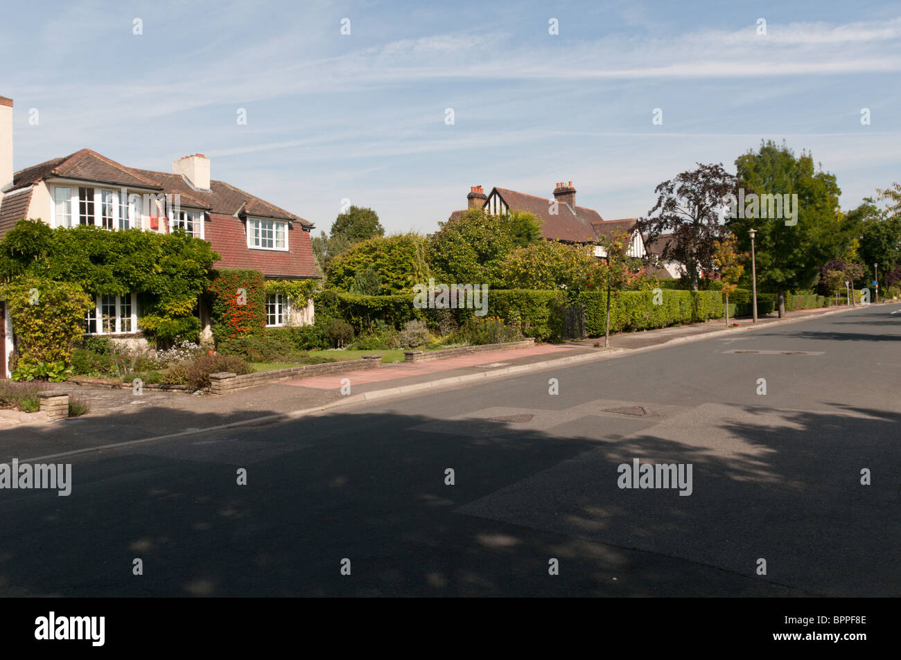 Whitecroft Way in the Park Langley Conservation Area, Bromley, Kent - Stock Image