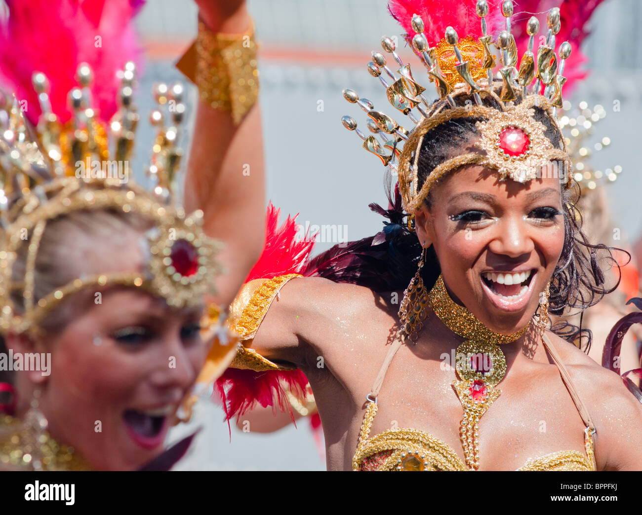 Showgirls at the Notting Hill Carnival (2010), London - Stock Image