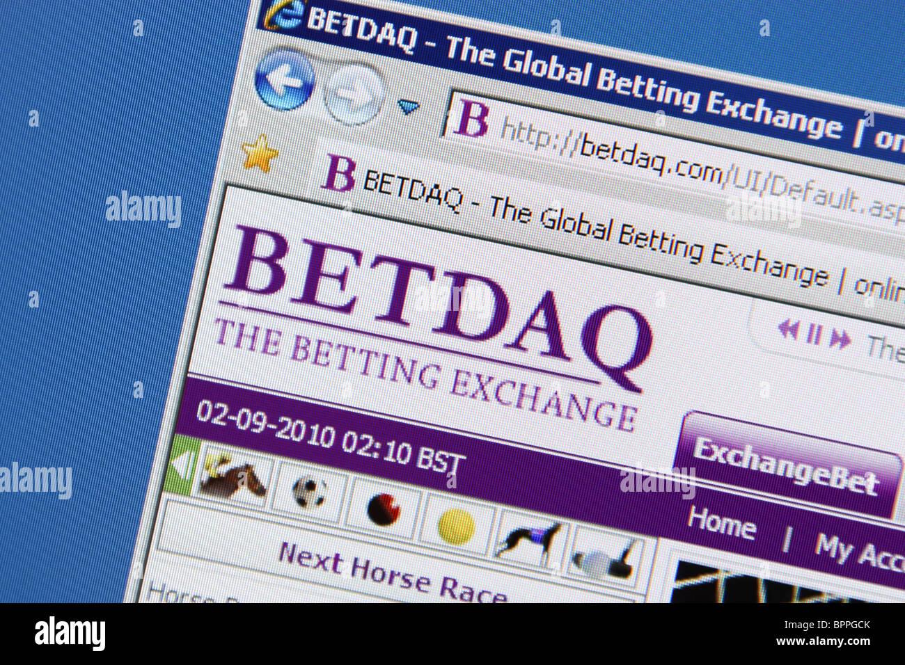 BETDAQ Global Betting Exchange Online - Stock Image