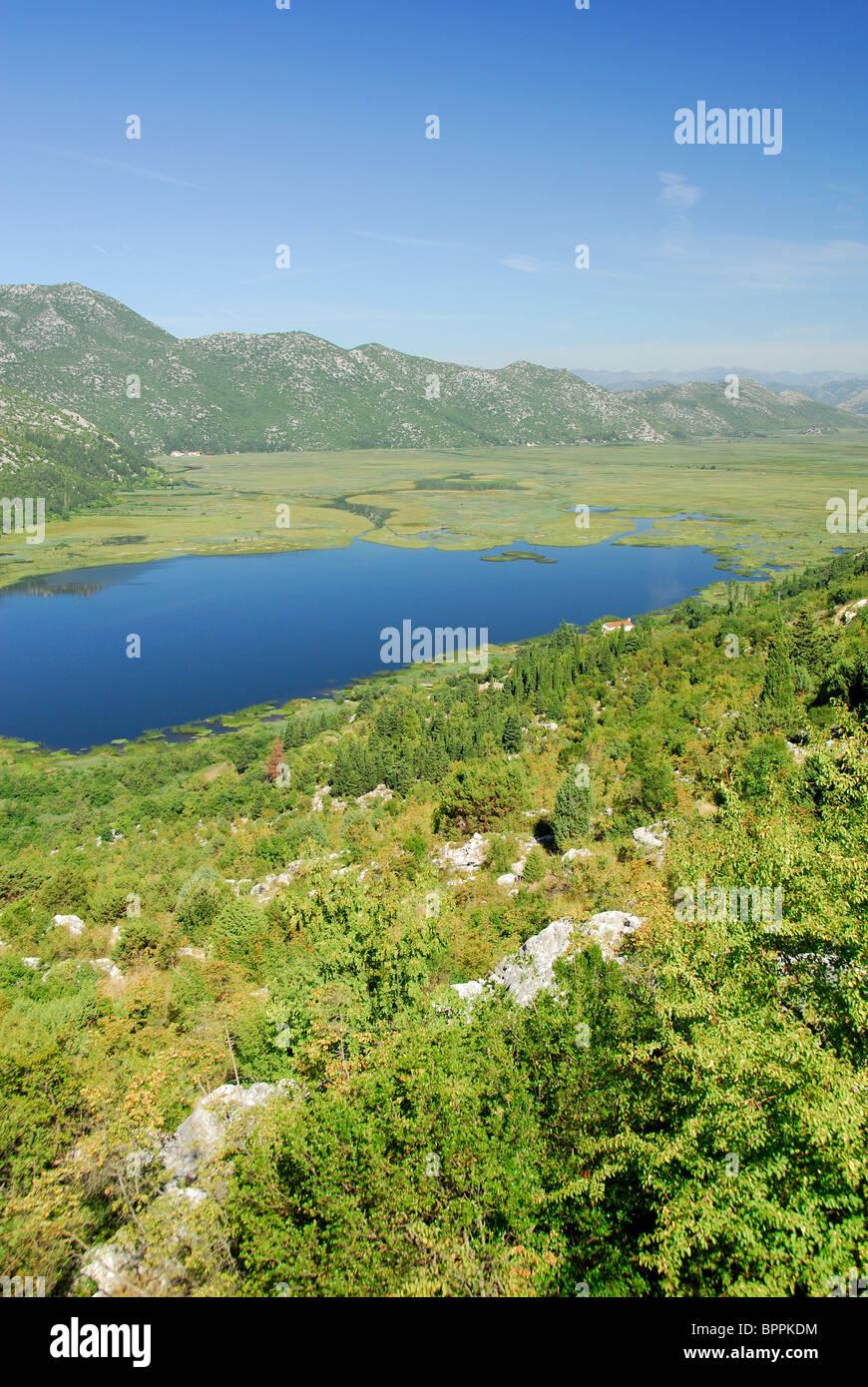 CROATIA. A view of the Neretva delta near Ploce in southern Dalmatia, as seen from the Croatia - Bosnia border. - Stock Image