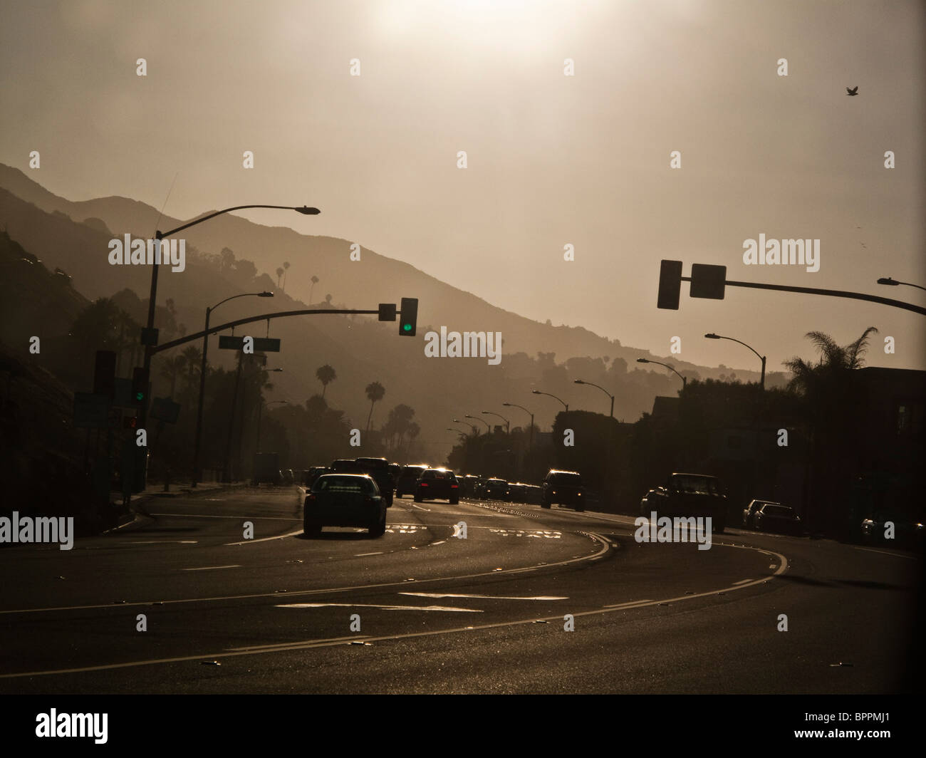 PCH Sunset - Stock Image