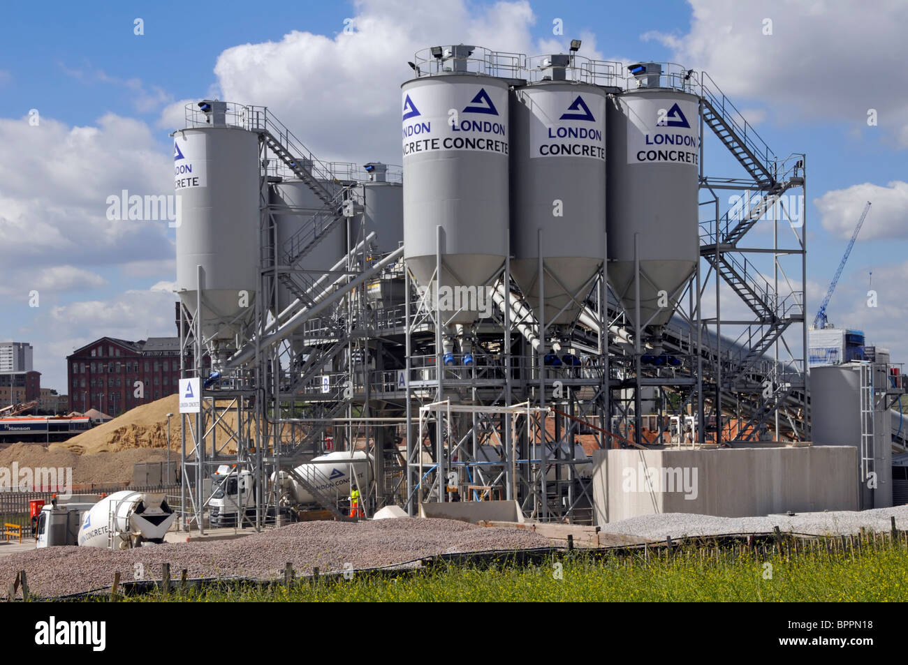 Cement Ready Mix Plant : London concrete ready mixed plant stock photo
