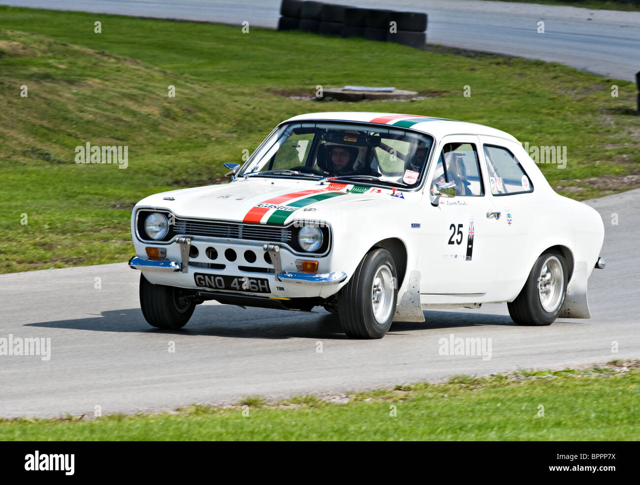 Mark I Ford Escort RS1600 Rally Car on Rally Track at Oulton Park ...
