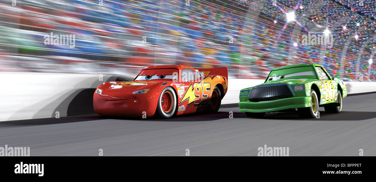 Lightning mcqueen chick hicks cars 2006 stock photo 31233408 alamy - Coloriage cars chick hicks ...