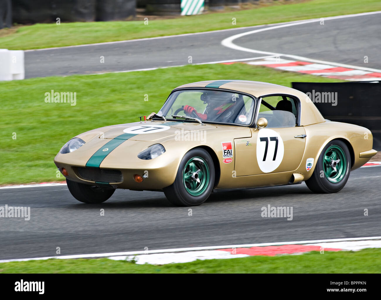 Lotus Elan 26R Race Car Negotiates Brittens at Oulton Park Motor ...