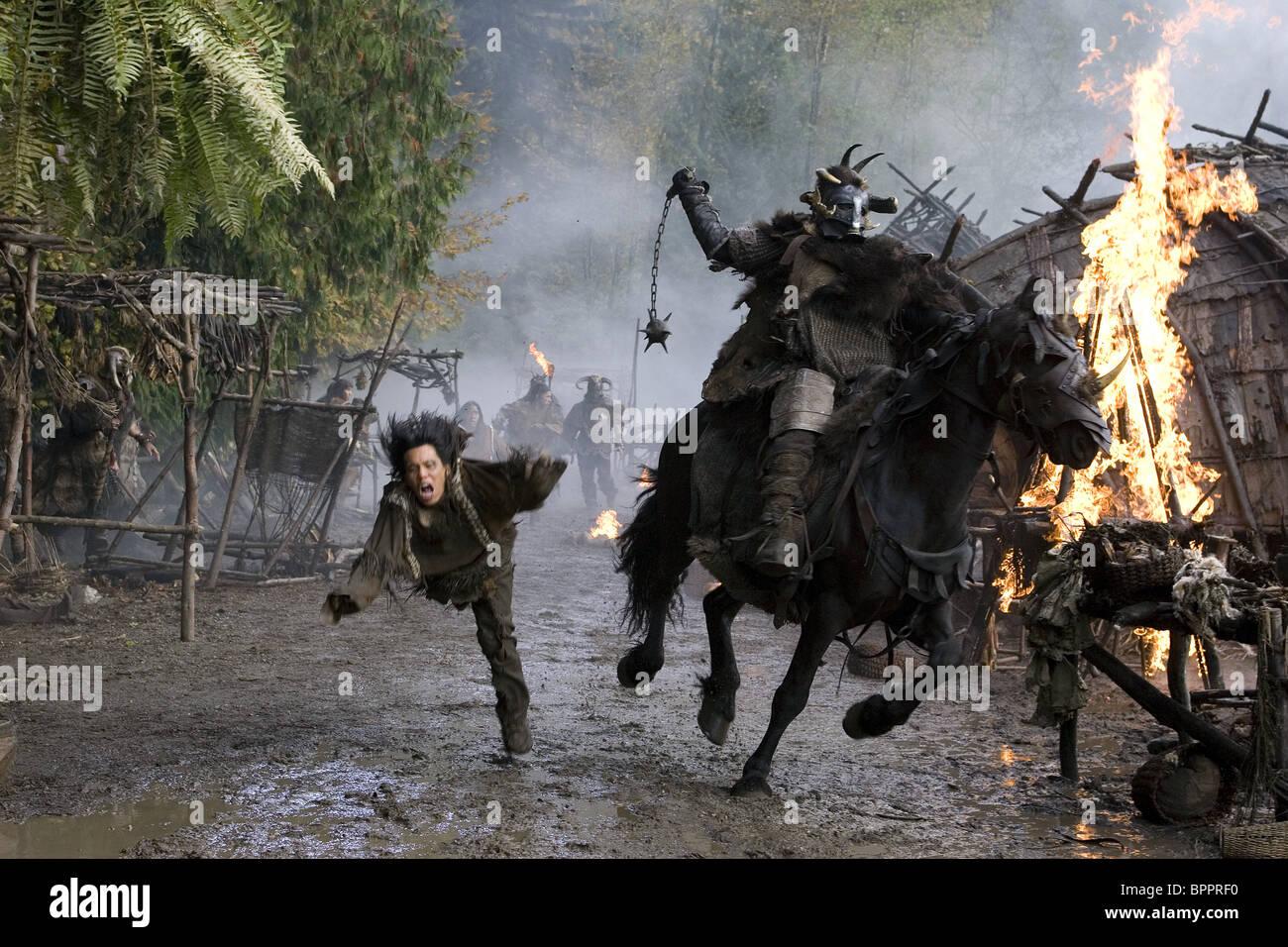 VIKINGS ATTACKS VILLAGERS PATHFINDER (2006) - Stock Image