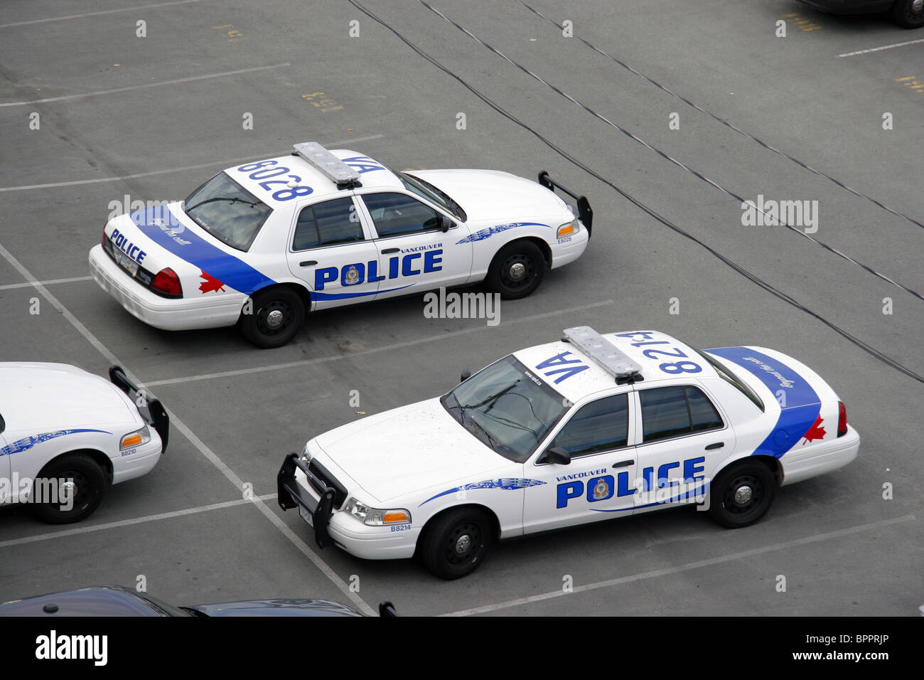 Vancouver police department vehicles, Vancouver, British Columbia, Canada - Stock Image