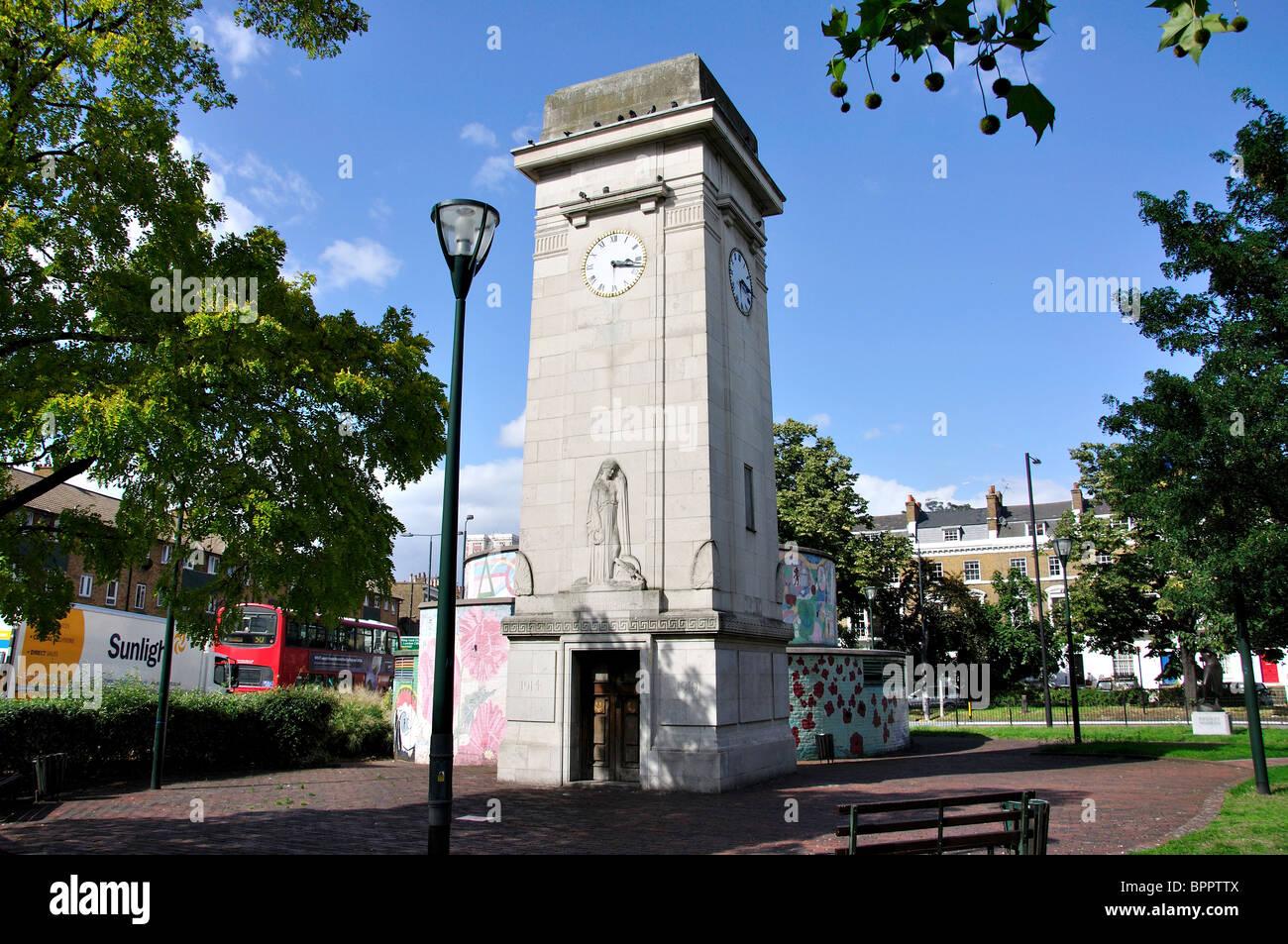 War memorial, Stockwell Memorial Gardens, Stockwell, London Borough of Lambeth, Greater London, England, United - Stock Image