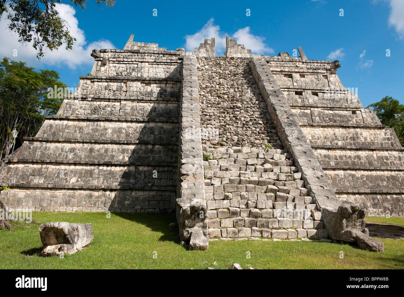 El Osario, Chichen Itza ruins, The Yucatan, Mexico - Stock Image