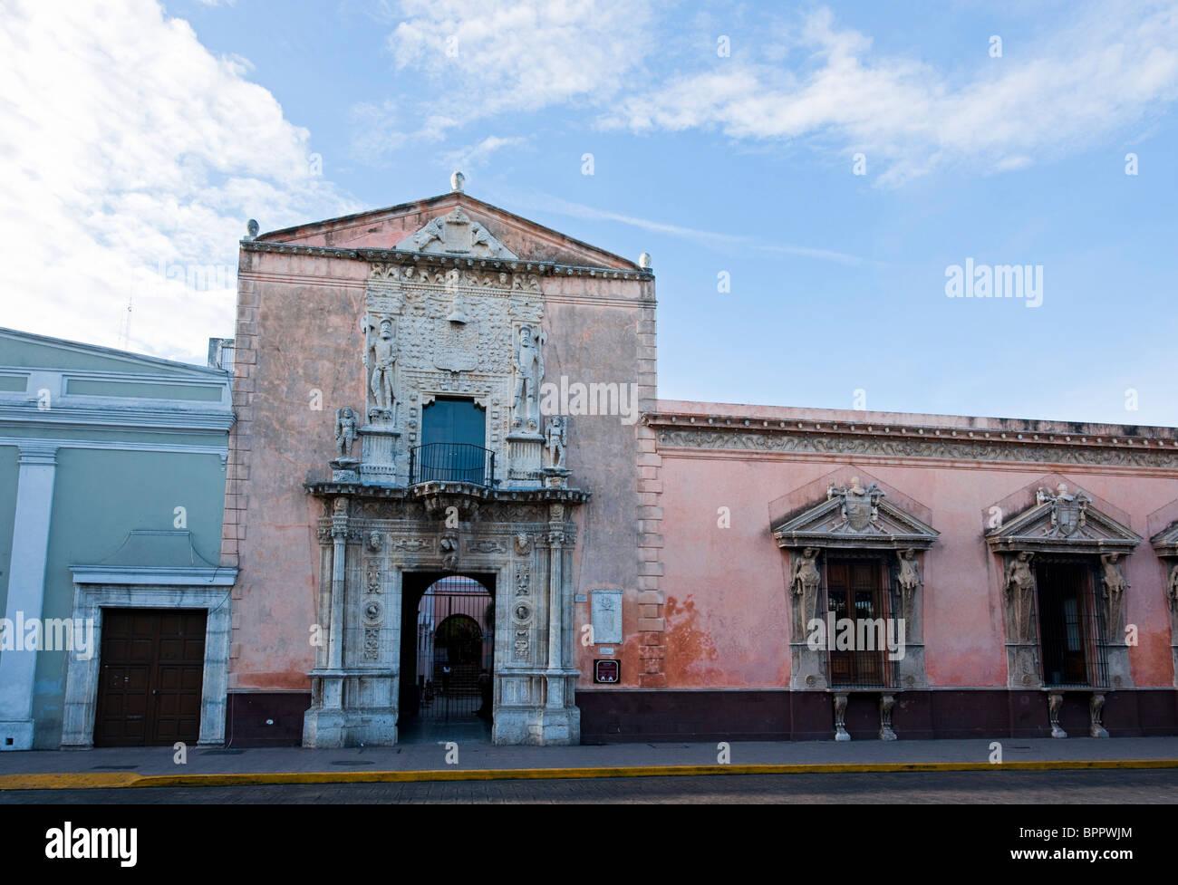Casa de Montejo, Plaza Mayor, Merida, the Yucatan, Mexico Stock Photo