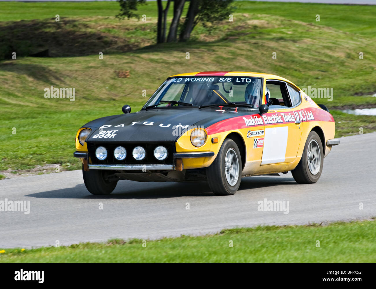 Datsun 240Z Rally Car on Rally Track at Oulton Park Motor Racing ...