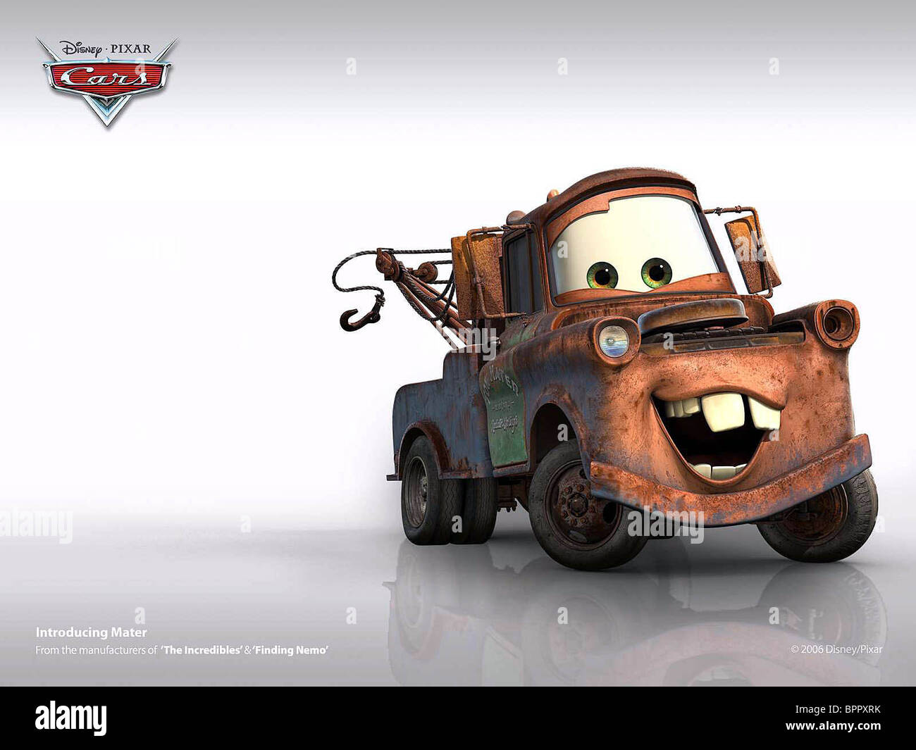 MATER TOW TUCK POSTER CARS (2006) - Stock Image
