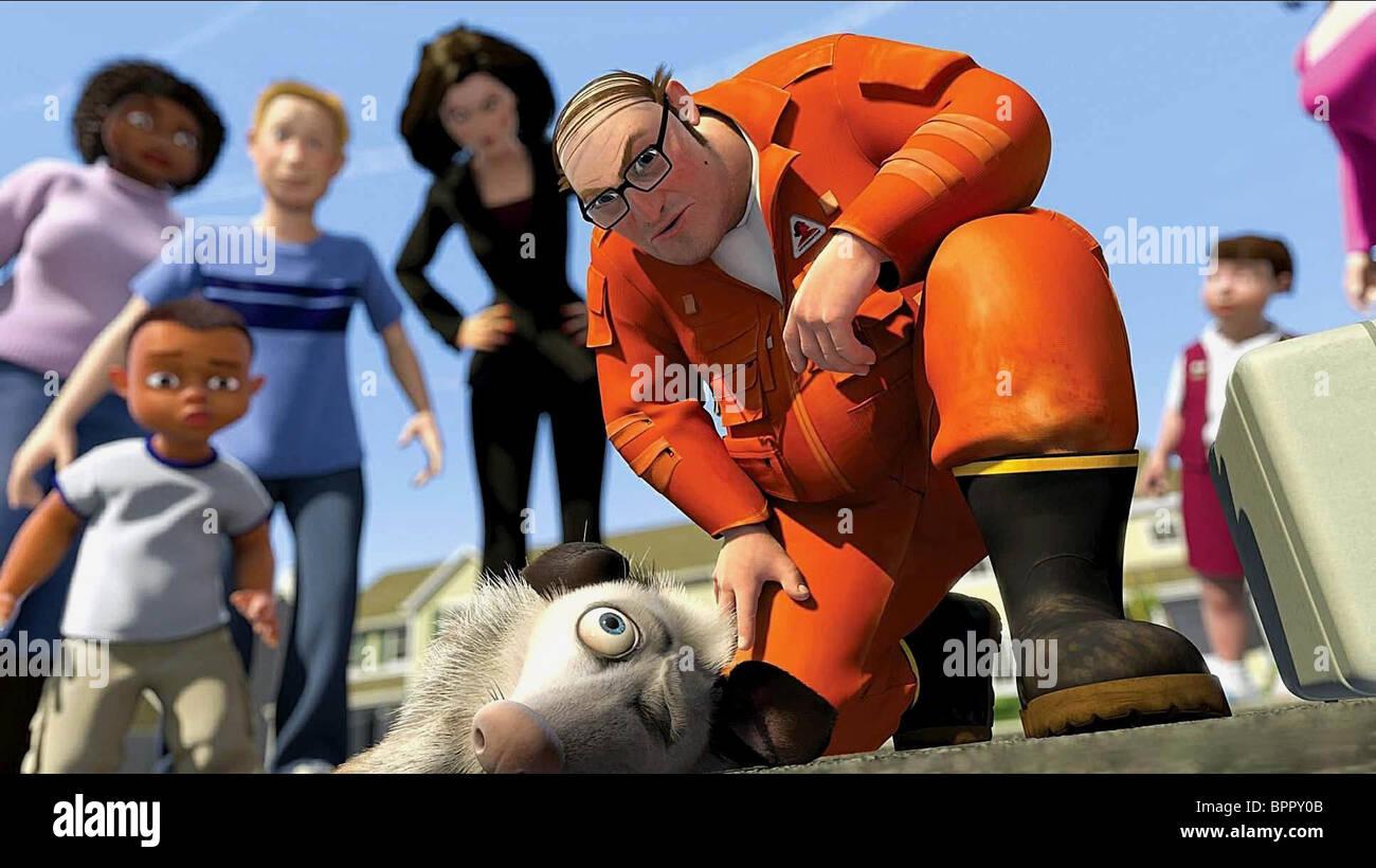 OZZIE & THE VERMINATOR OVER THE HEDGE (2006) - Stock Image