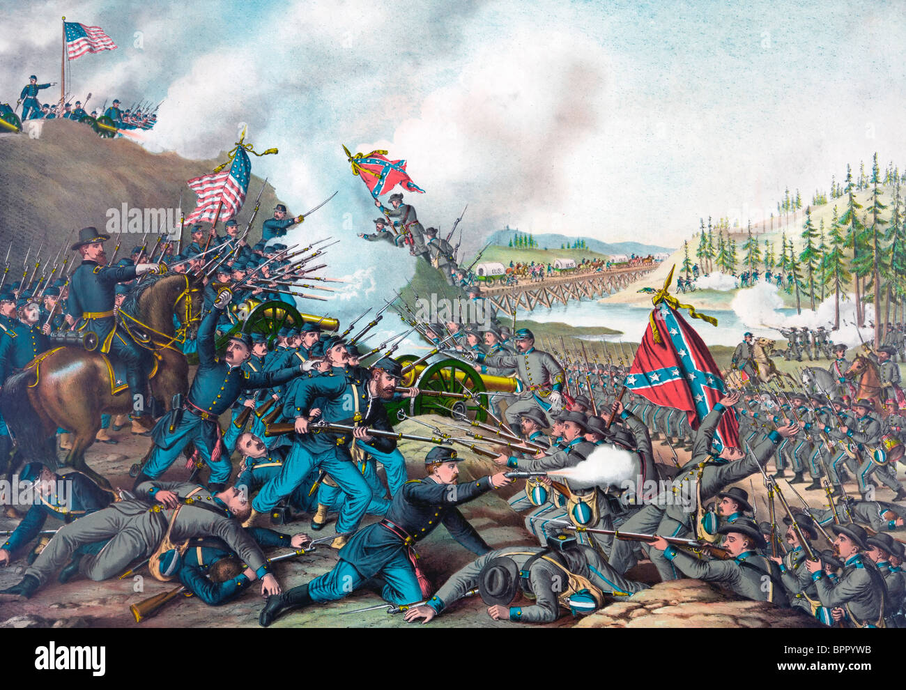 Battle of Franklin - USA Civil War - Fought November 30, 1864 - Stock Image
