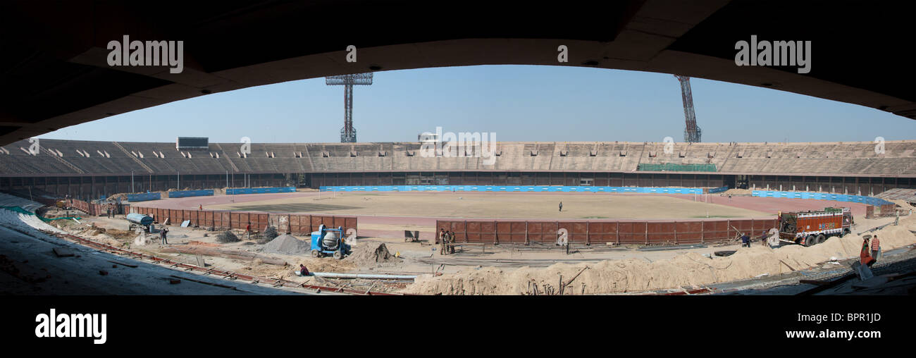 As It Was - Jawaharlal Nehru Stadium New Delhi India before is was renovated to host various events of 2010 Commonwealth - Stock Image