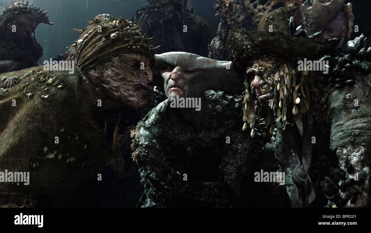 Davey Jones Crew Pirates Of The Caribbean Dead Man S Chest 2006 Stock Photo Alamy