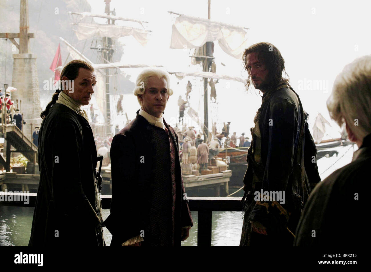 DAVID SCHOFIELD TOM HOLLANDER & JACK DAVENPORT PIRATES OF THE CARIBBEAN: DEAD MAN'S CHEST (2006) - Stock Image
