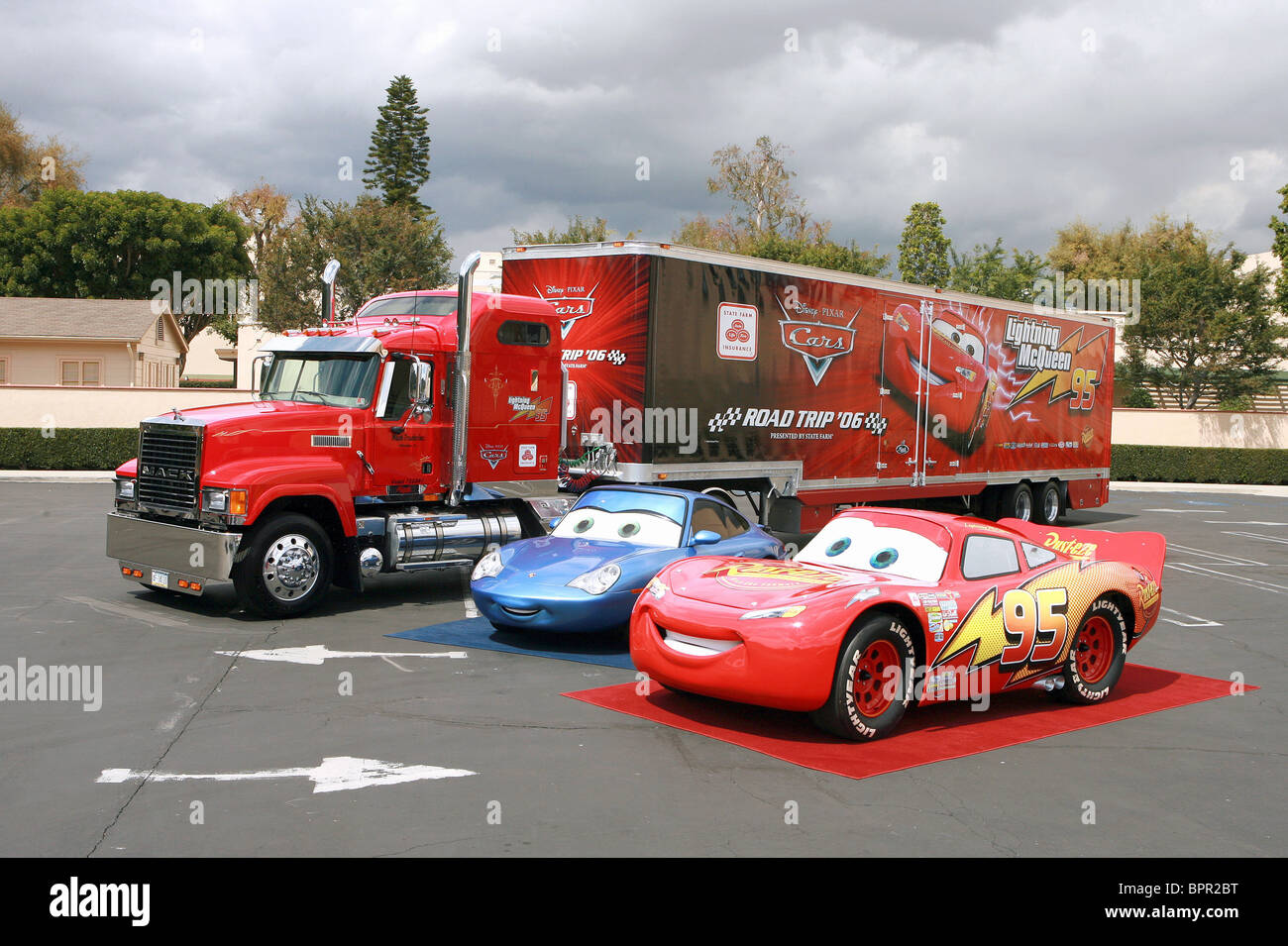 The Real Sally Carrera Lightning Mcqueen Cars 2006 Stock Photo