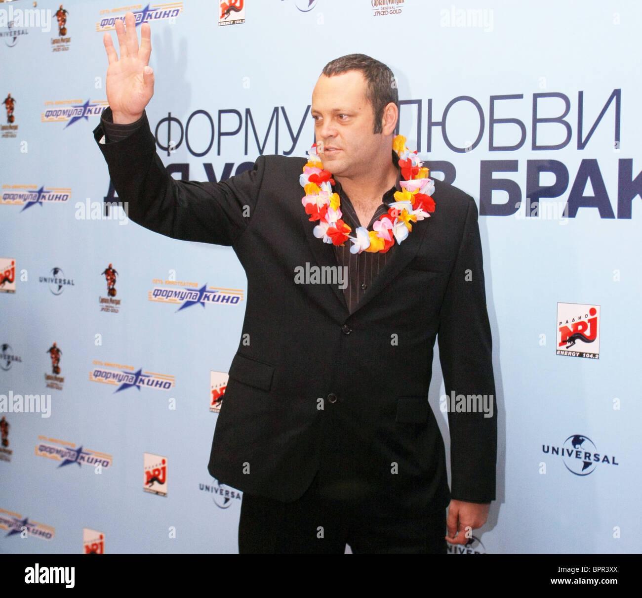 Actors Vince Vaughn and Malin Akerman visit Moscow - Stock Image