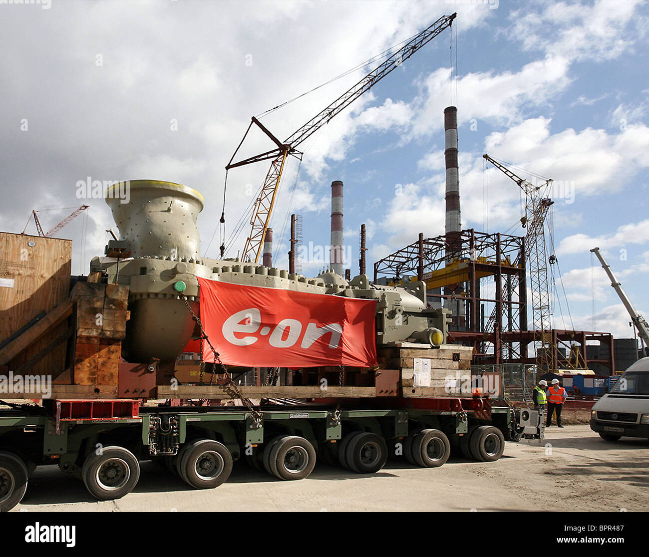 Oversized equipment delivered to Surgut GRES-2 - Stock Image