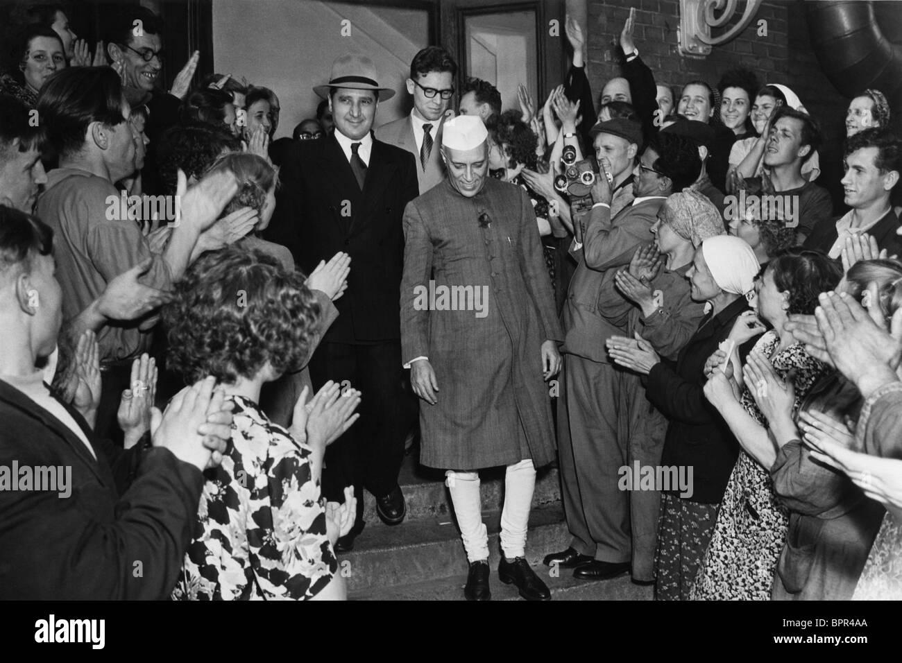 Jawaharlal Nehru visits USSR, 1955 - Stock Image
