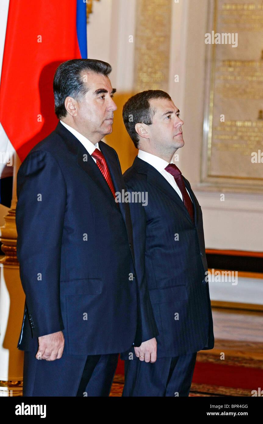 Medvedev and Tajik President meet for talks - Stock Image