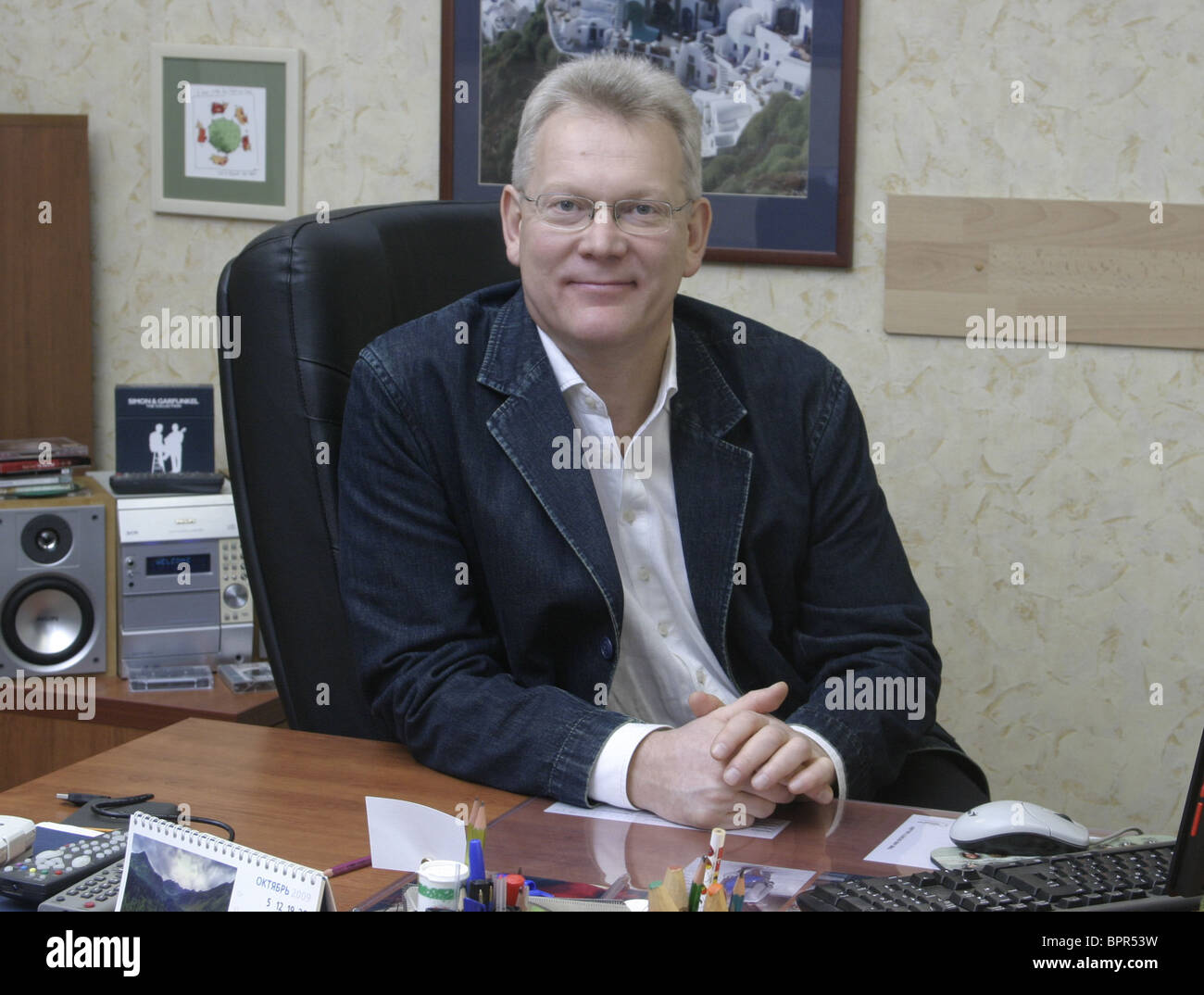 Chief editor of Izvestia magazine Vitaly Abramov - Stock Image