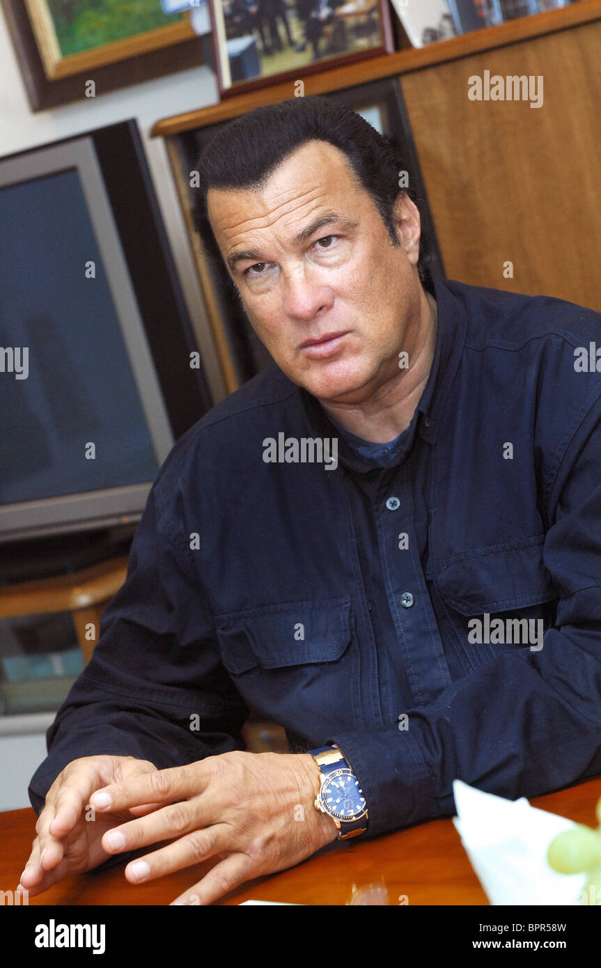 Steven seagal stock photos steven seagal stock images alamy for Actor watches