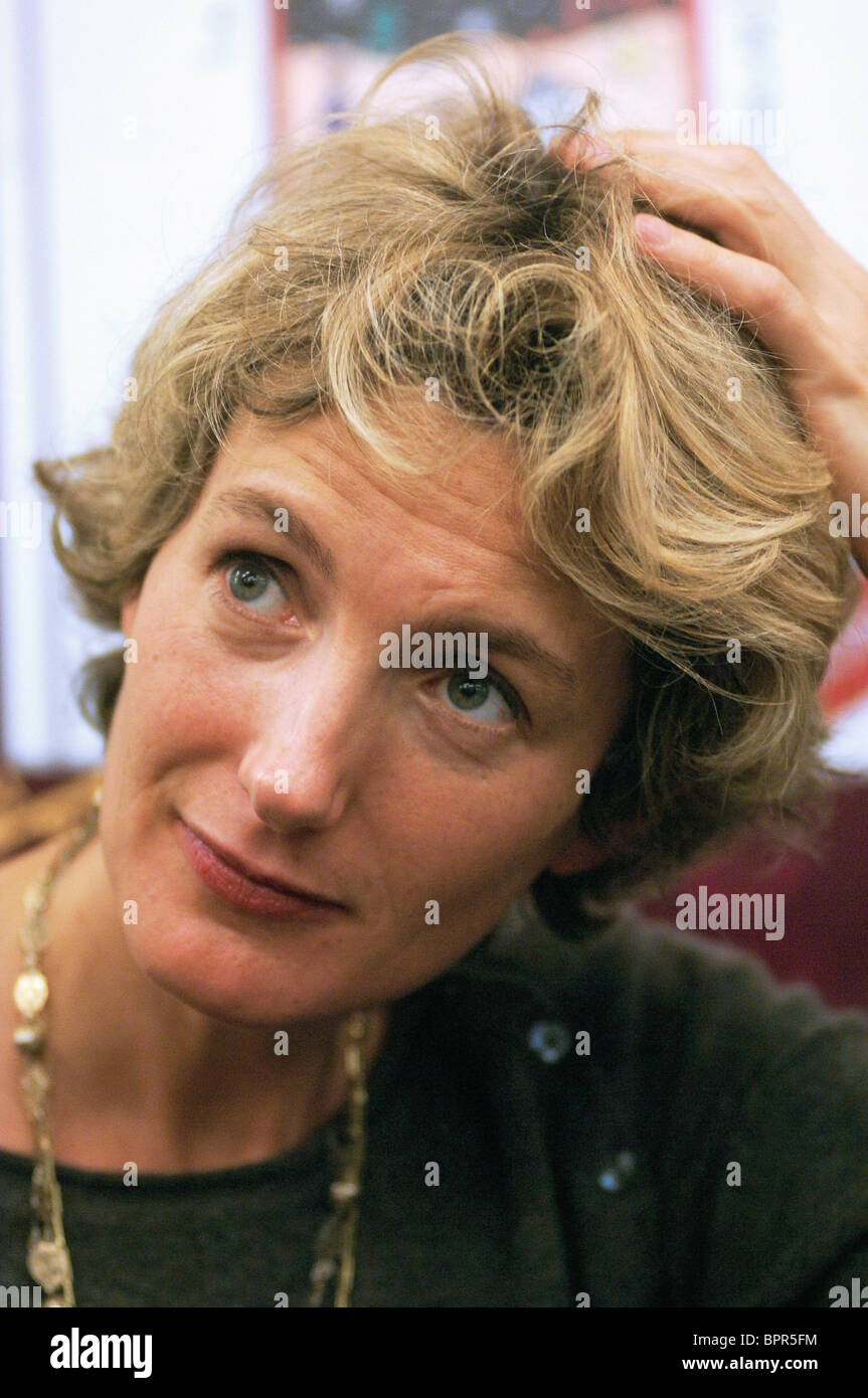 French author Anna Gavalda visits Russia to promote her new book - Stock Image