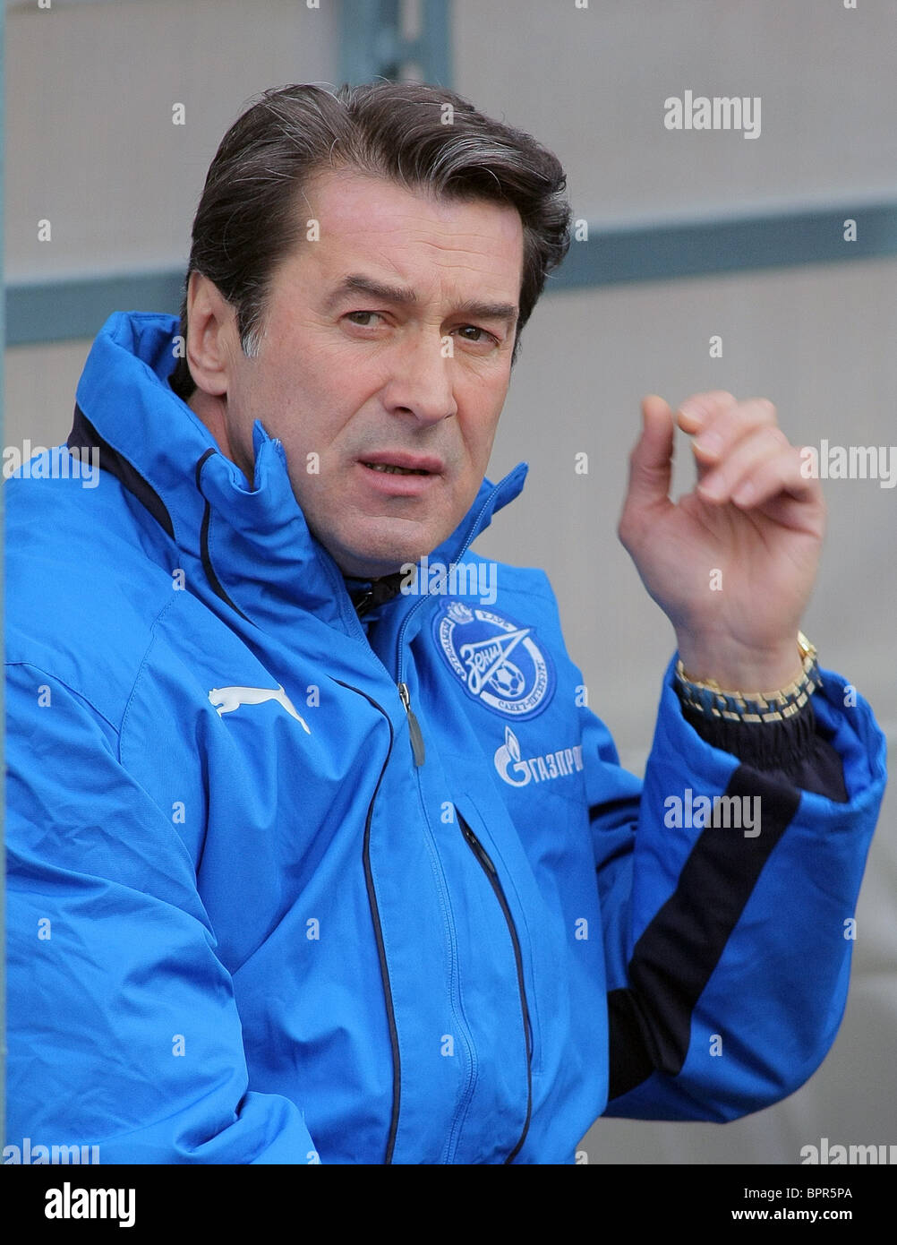 Russian football championship: Moskva Moscow 1 - 0 Zenit St Petersburg - Stock Image
