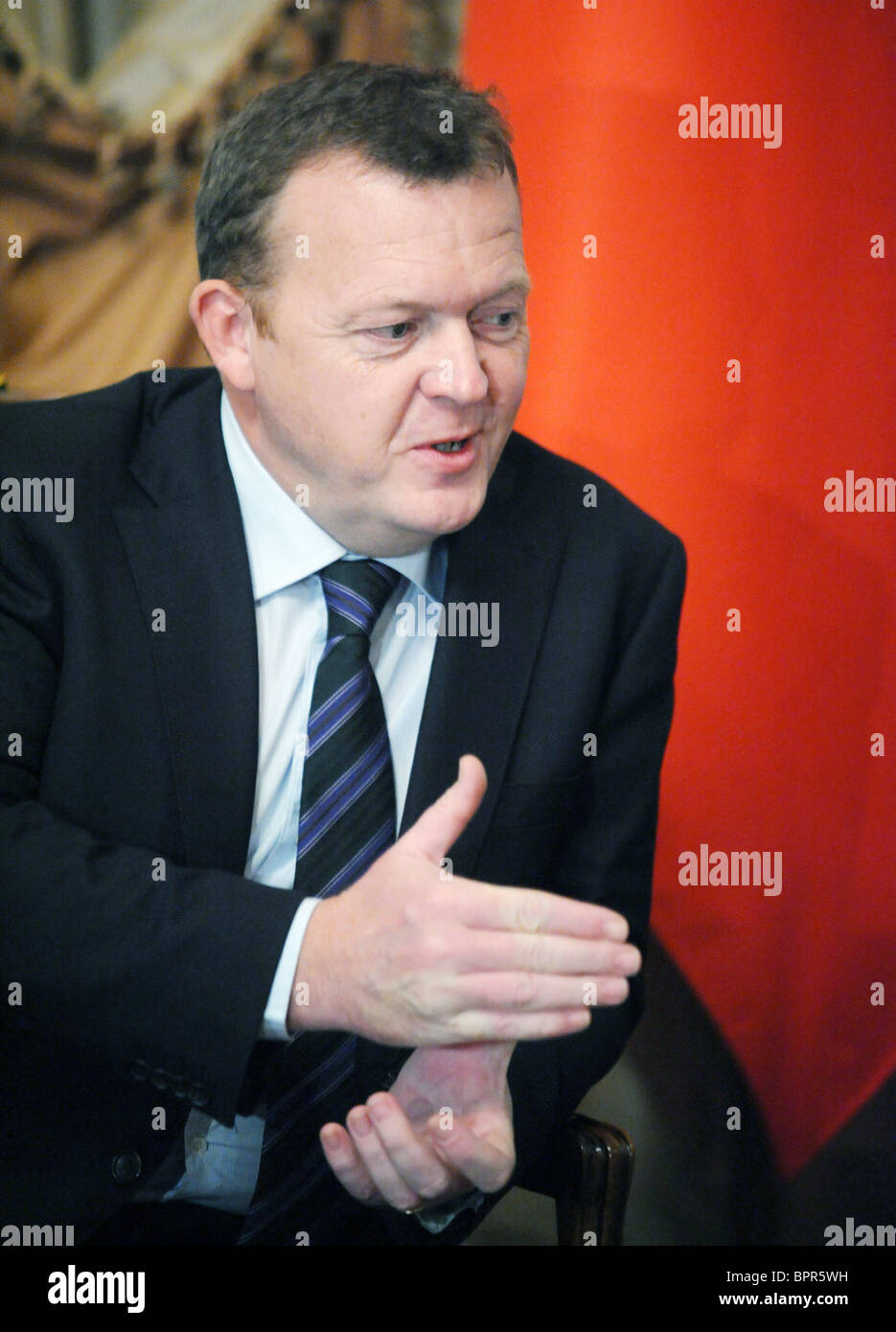 Prime ministers of Russia and Denmark meet for talks - Stock Image