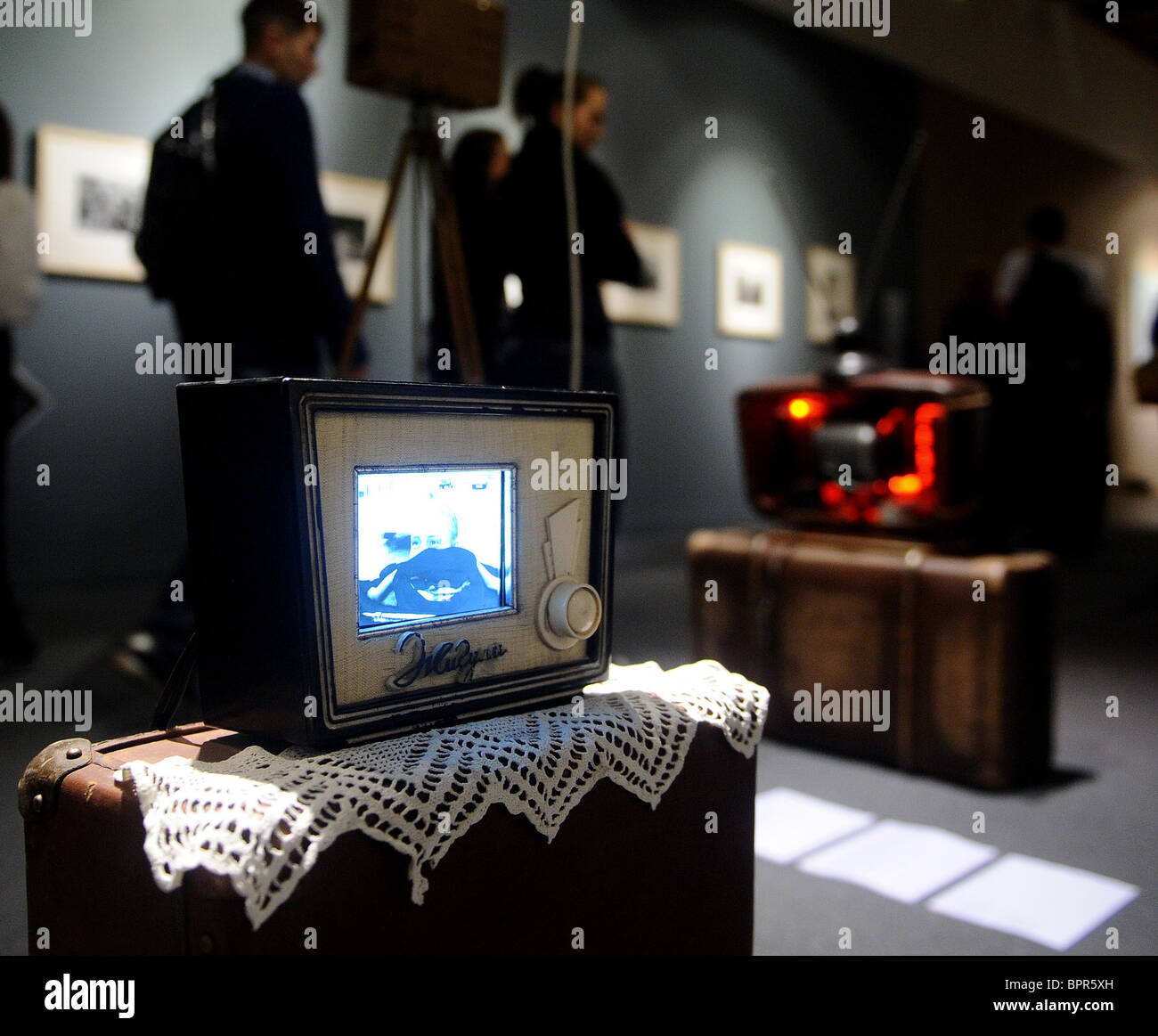 Kandinsky Prize nominees exhibit their entries at Moscow's Central House of Artist - Stock Image