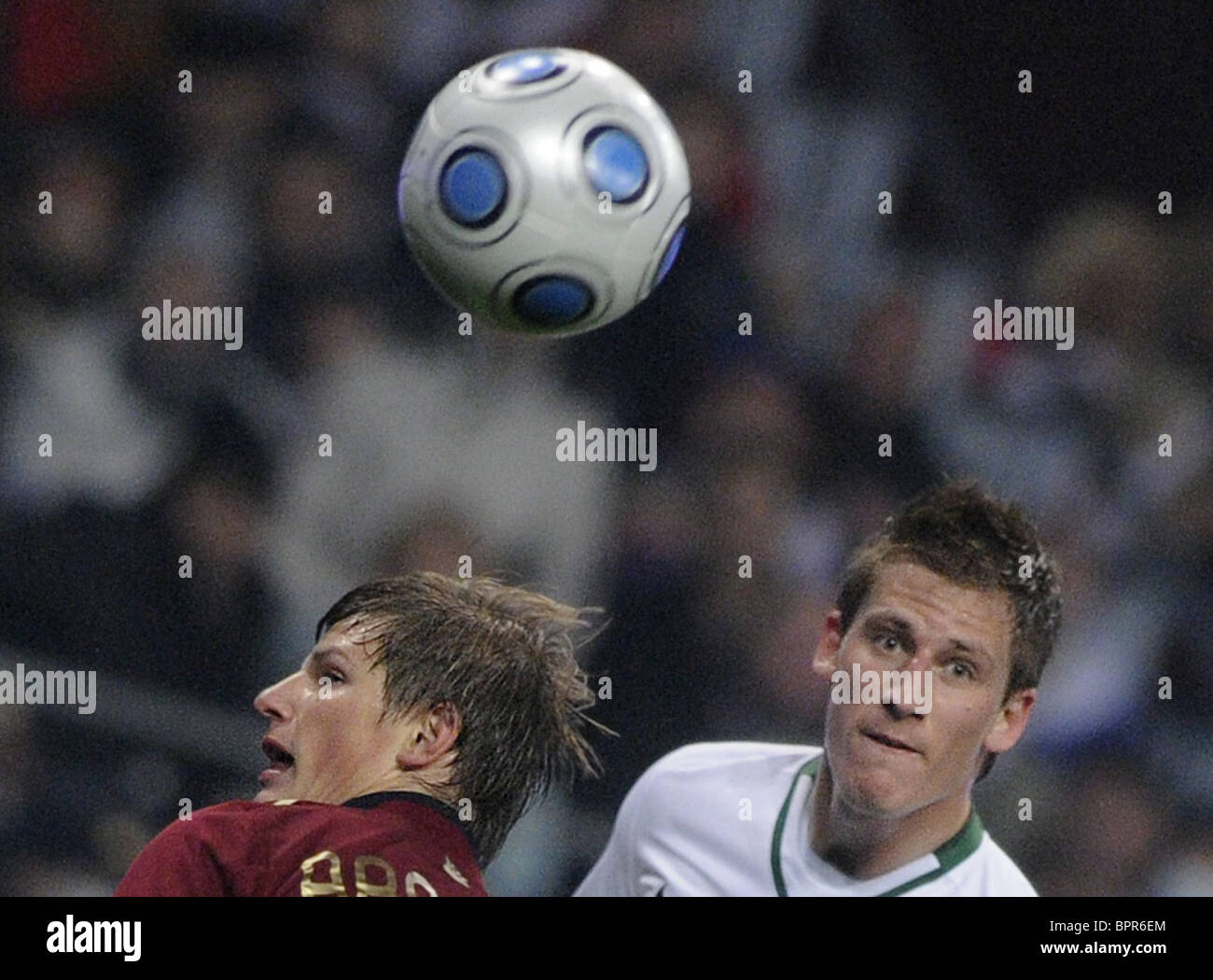 Russia defeats Slovenia 2-1 in WCup playoff 1st leg - Stock Image