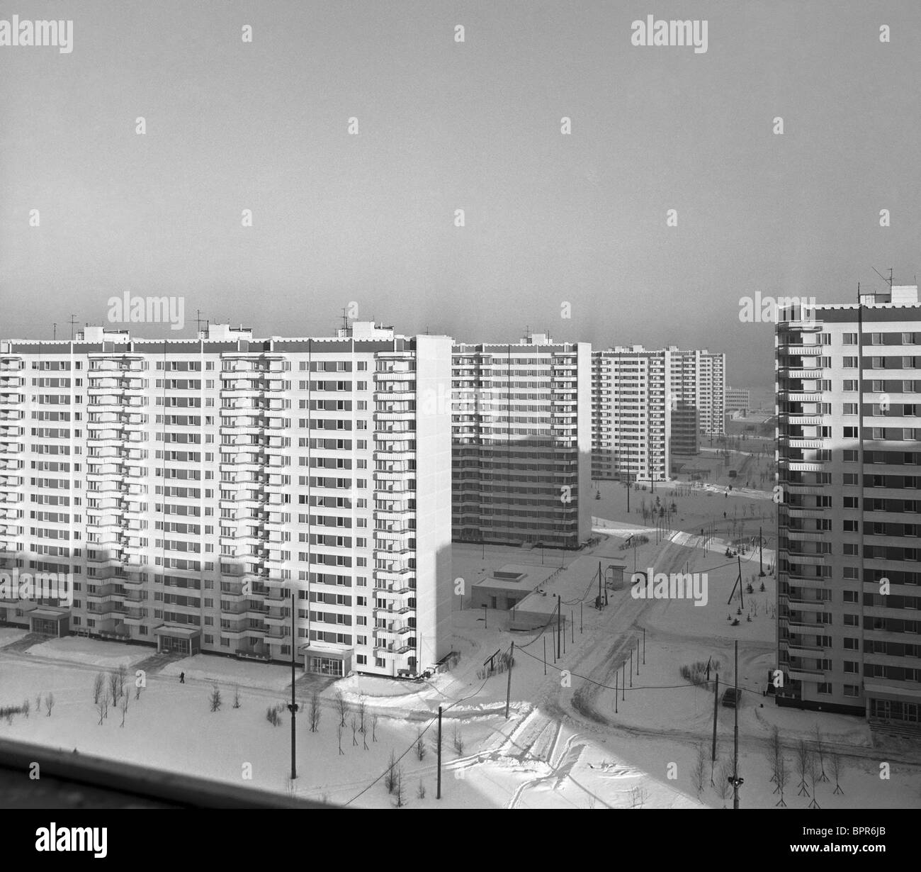 Olympic village, 1980 - Stock Image
