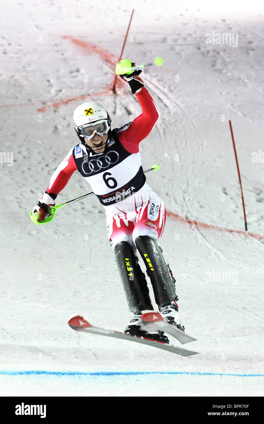 Moscow hosts FIS Alpine Ski Champions Cup in parallel slalom - Stock Image