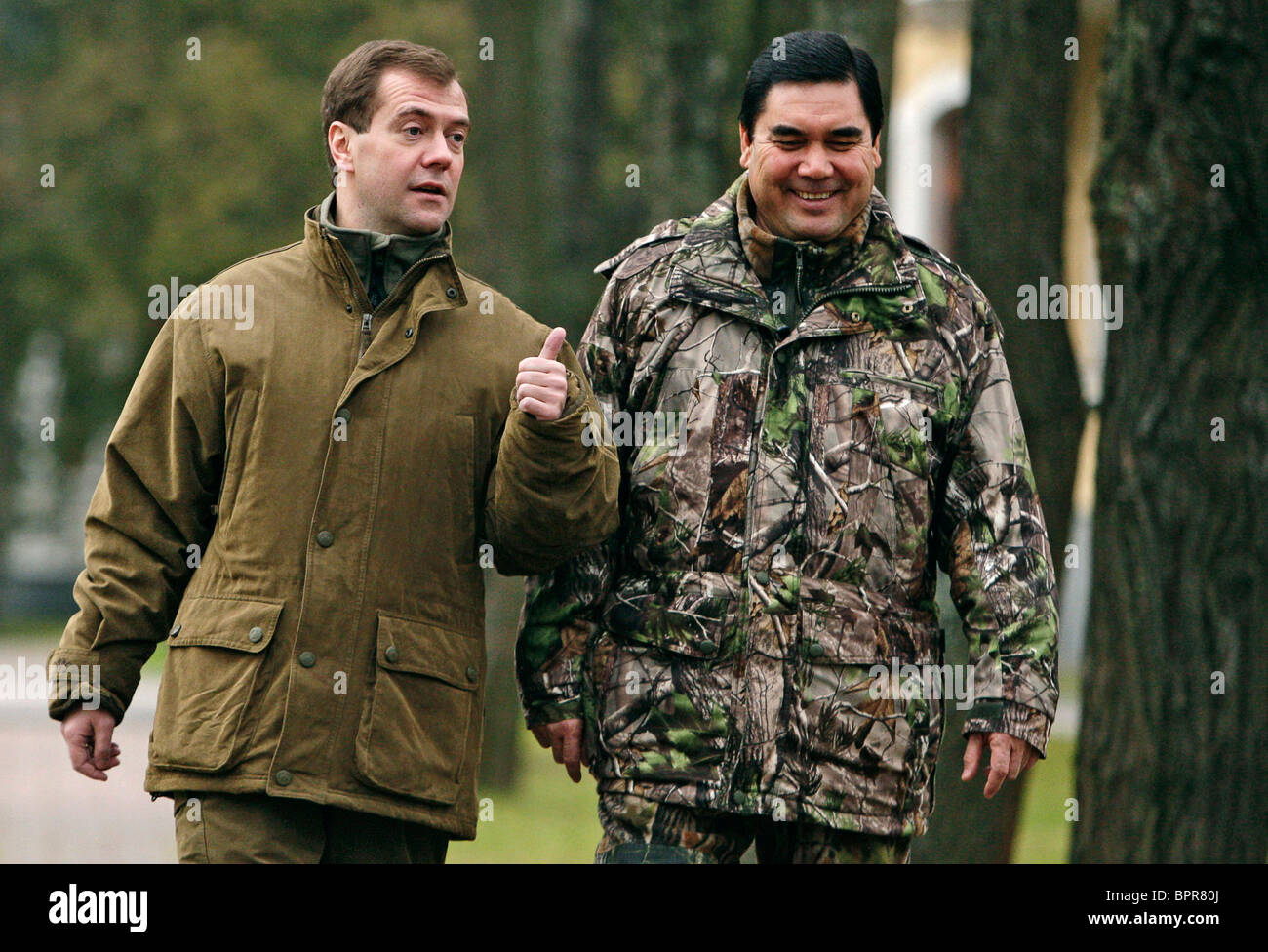 Turkmenistan's President visits Russia - Stock Image