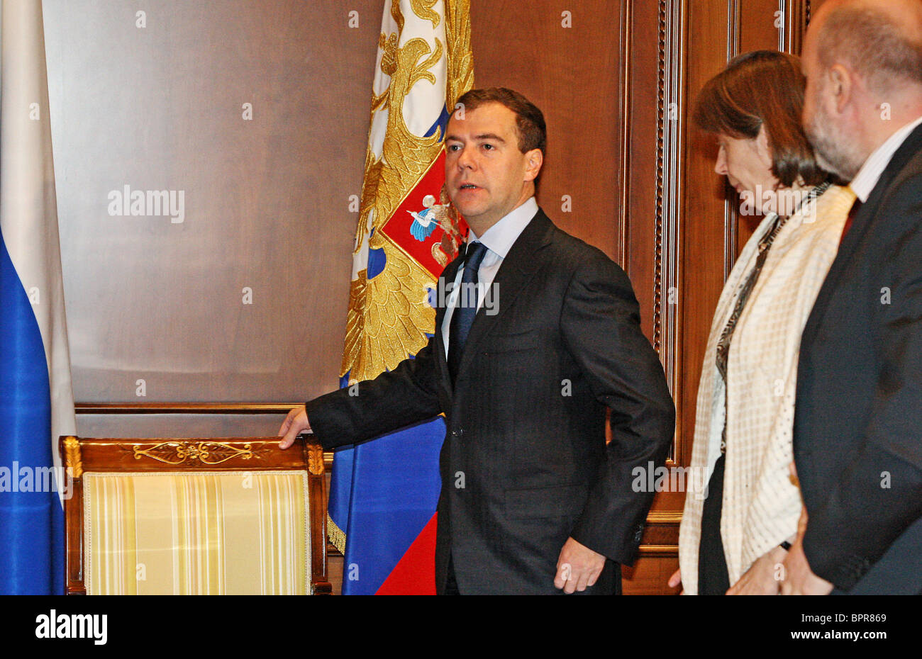 Medvedev holds meeting on legal issues - Stock Image