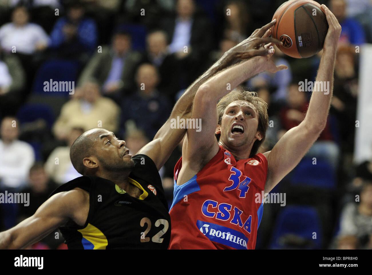 Euroleague: CSKA Moscow (Rus) 78 - 65 Maroussi BC (Gr) - Stock Image