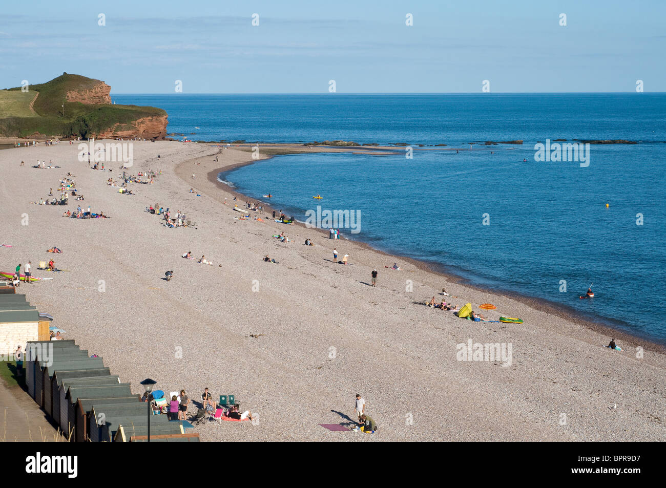 East Devon Area of Outstanding Natural Beauty (AONB), red cliffs of Budleigh Salterton, - Stock Image