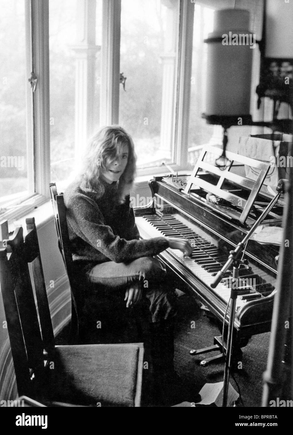 David Bowie In His Ground Floor Apartment At Haddon Hall