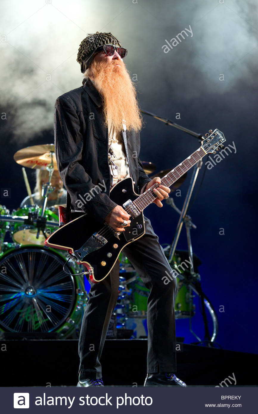 ZZ TOP - Billy Gibbons - Stock Image