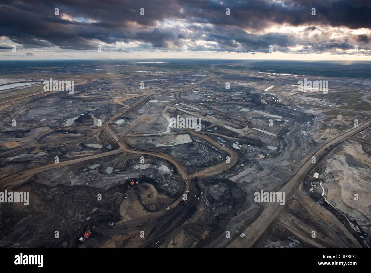 Syncrude Aurora Oil Sands Mine, Canada. - Stock Image