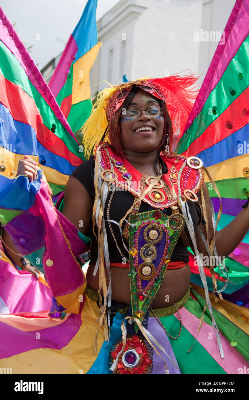 Dancer at the Notting Hill Carnival - Stock Image